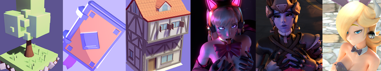 3D Toon/Stylized low poly models and NSFW Renders/Animations profile