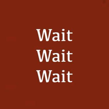 Wait Wait Wait
